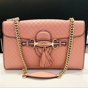 Brand New Gucci Pink Microguccissima Emily Bag